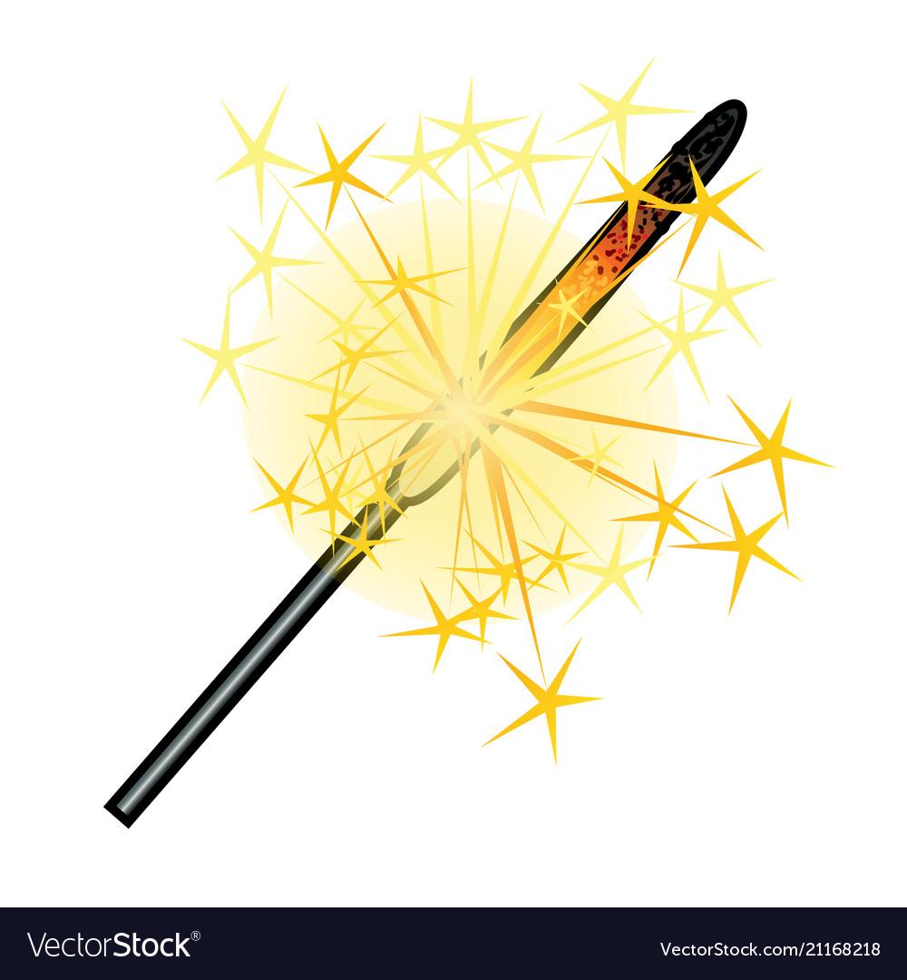 Burning sparkler isolated on white background