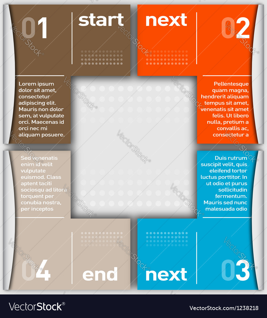 Business Infographic numbered by colors