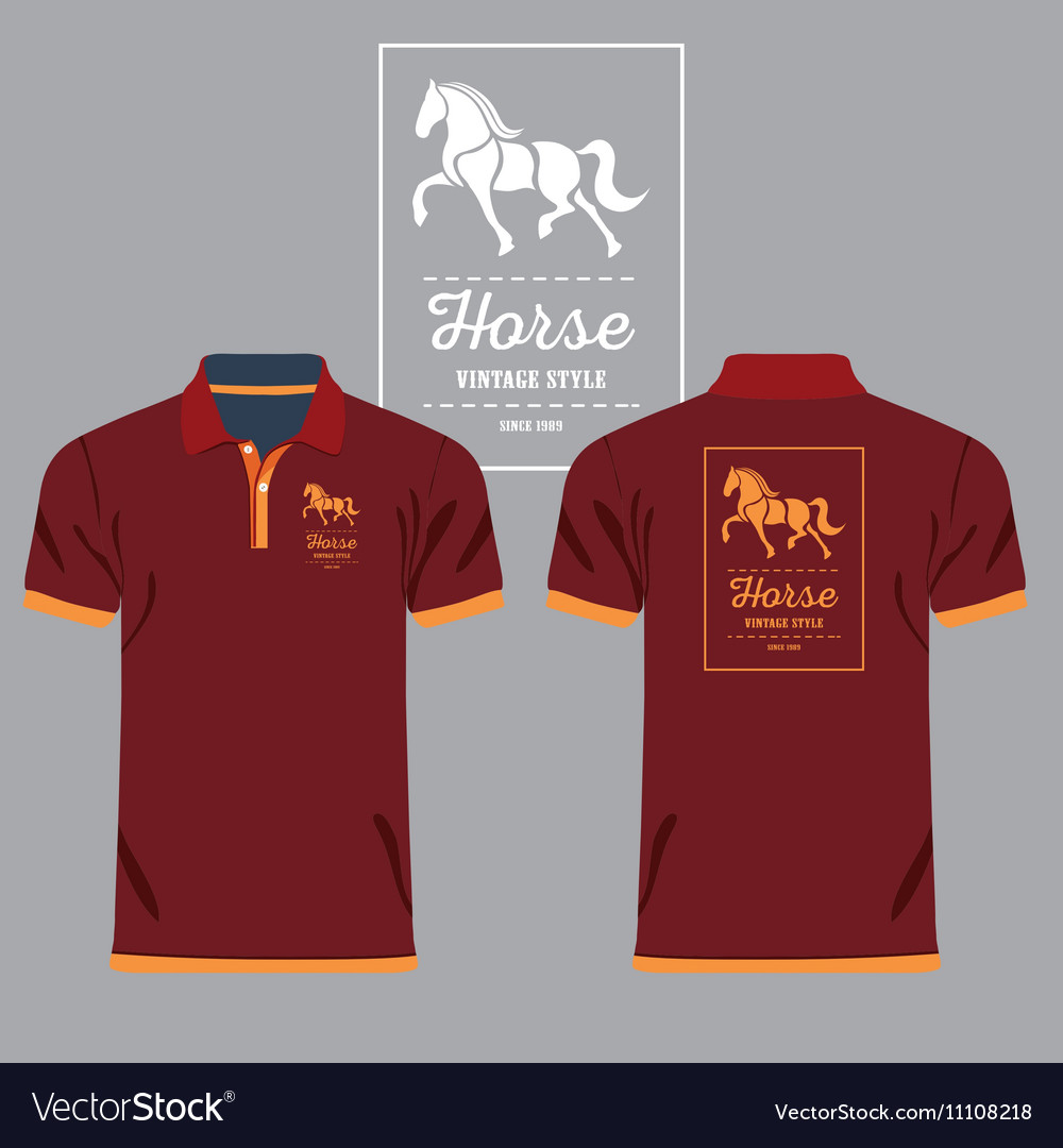 Collared Shirt Design Template