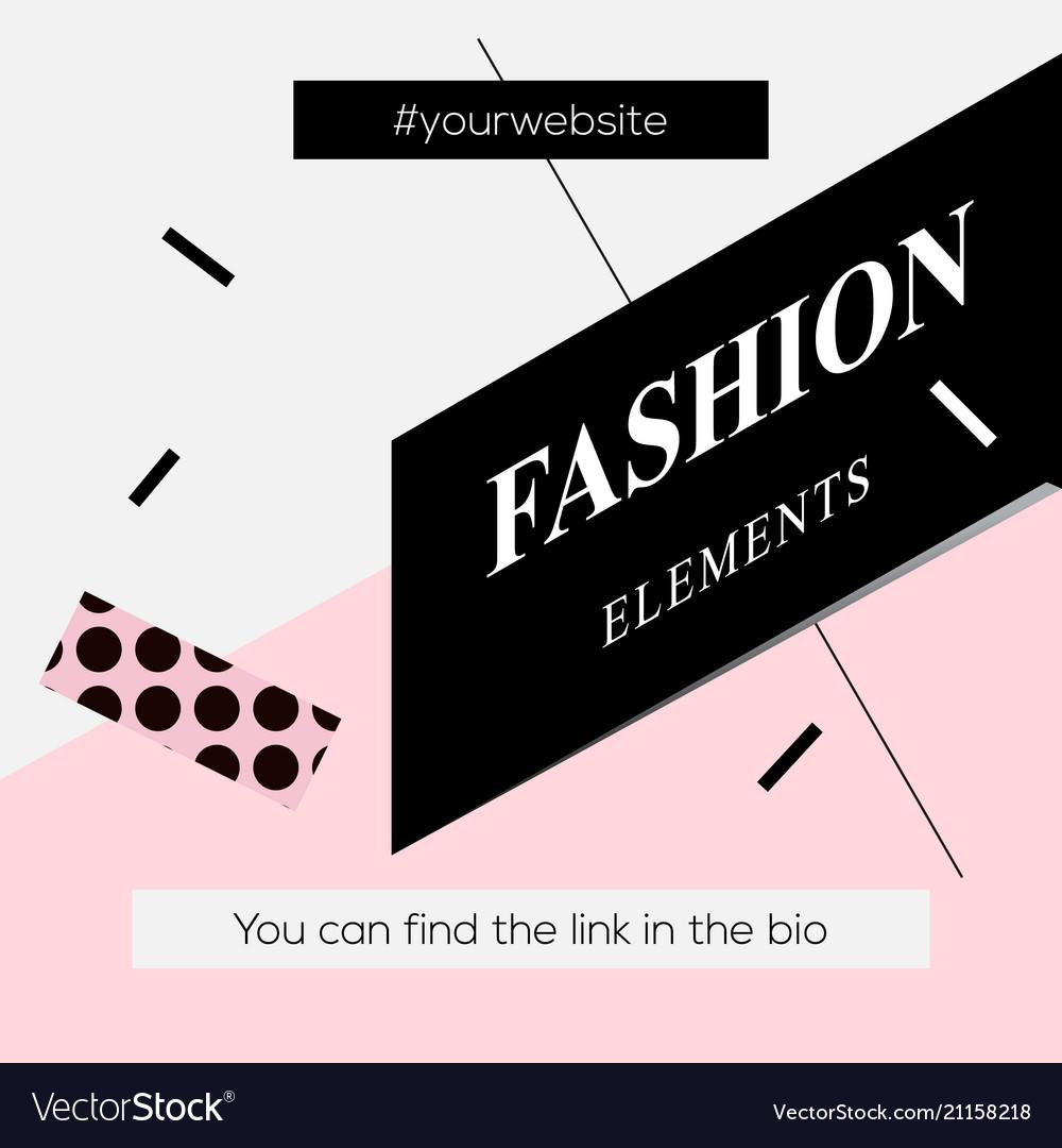 Modern promotion square web banner fashion