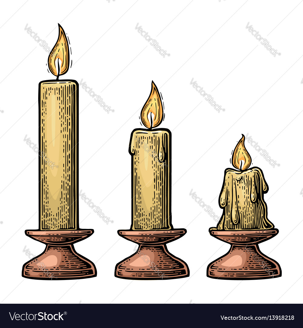 Process of candle burning