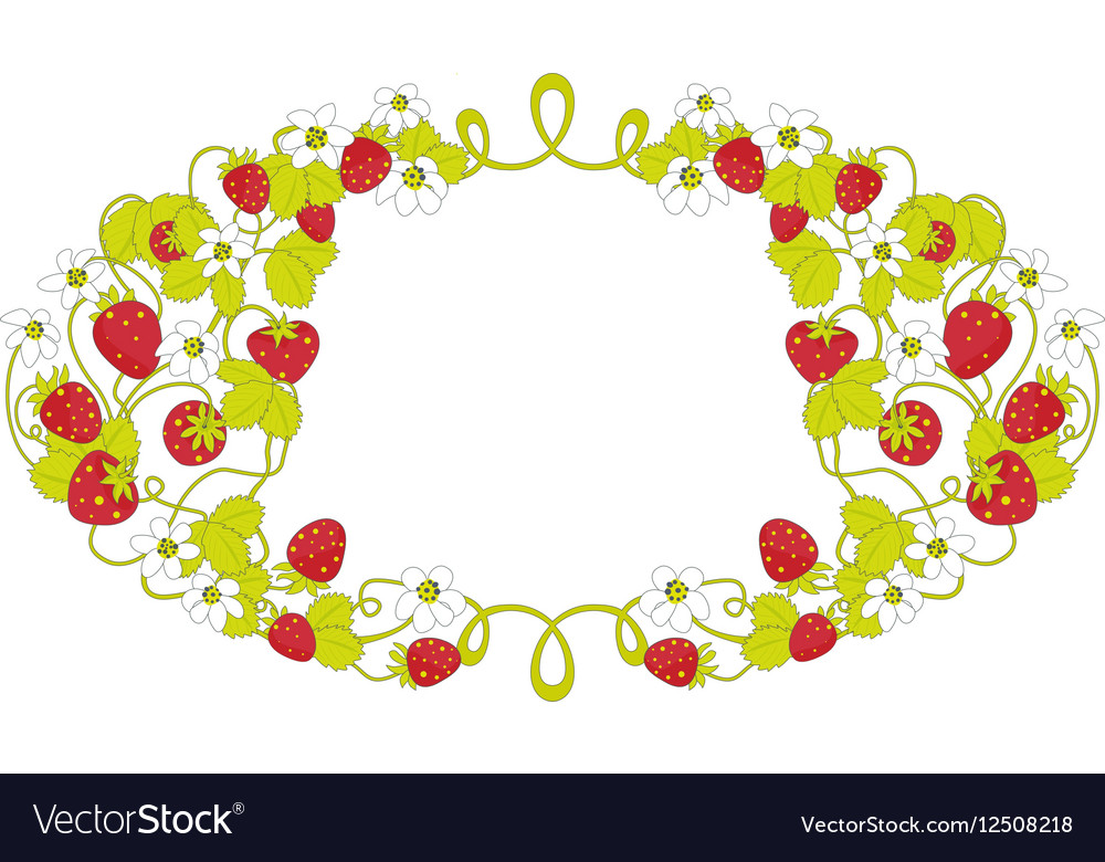 Strawberry frame Royalty Free Vector Image - VectorStock