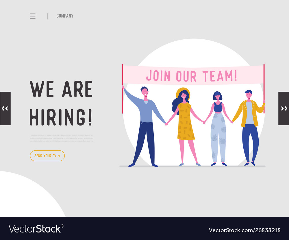 We Are Hiring Concept Job Recruitment Royalty Free Vector