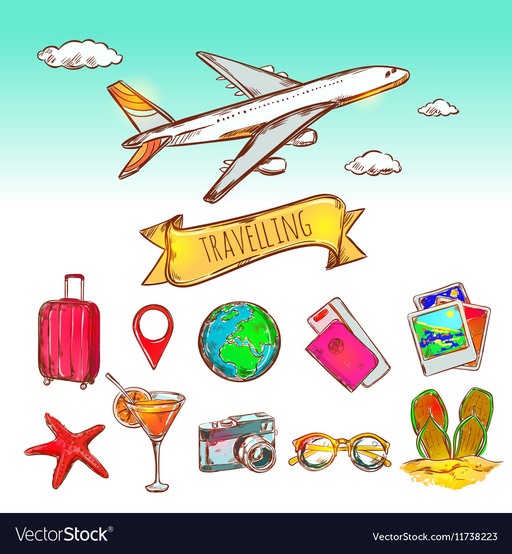 Air Travelling Icon Set