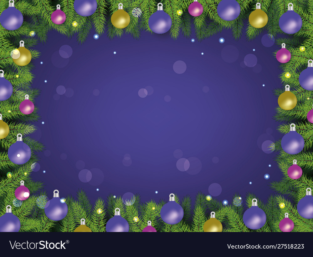 Christmas frame on violet with