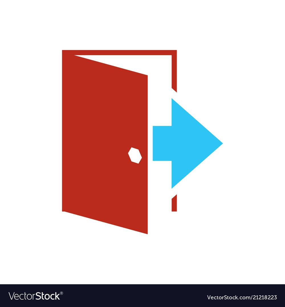 Logout icon - exit sign - register logout botton