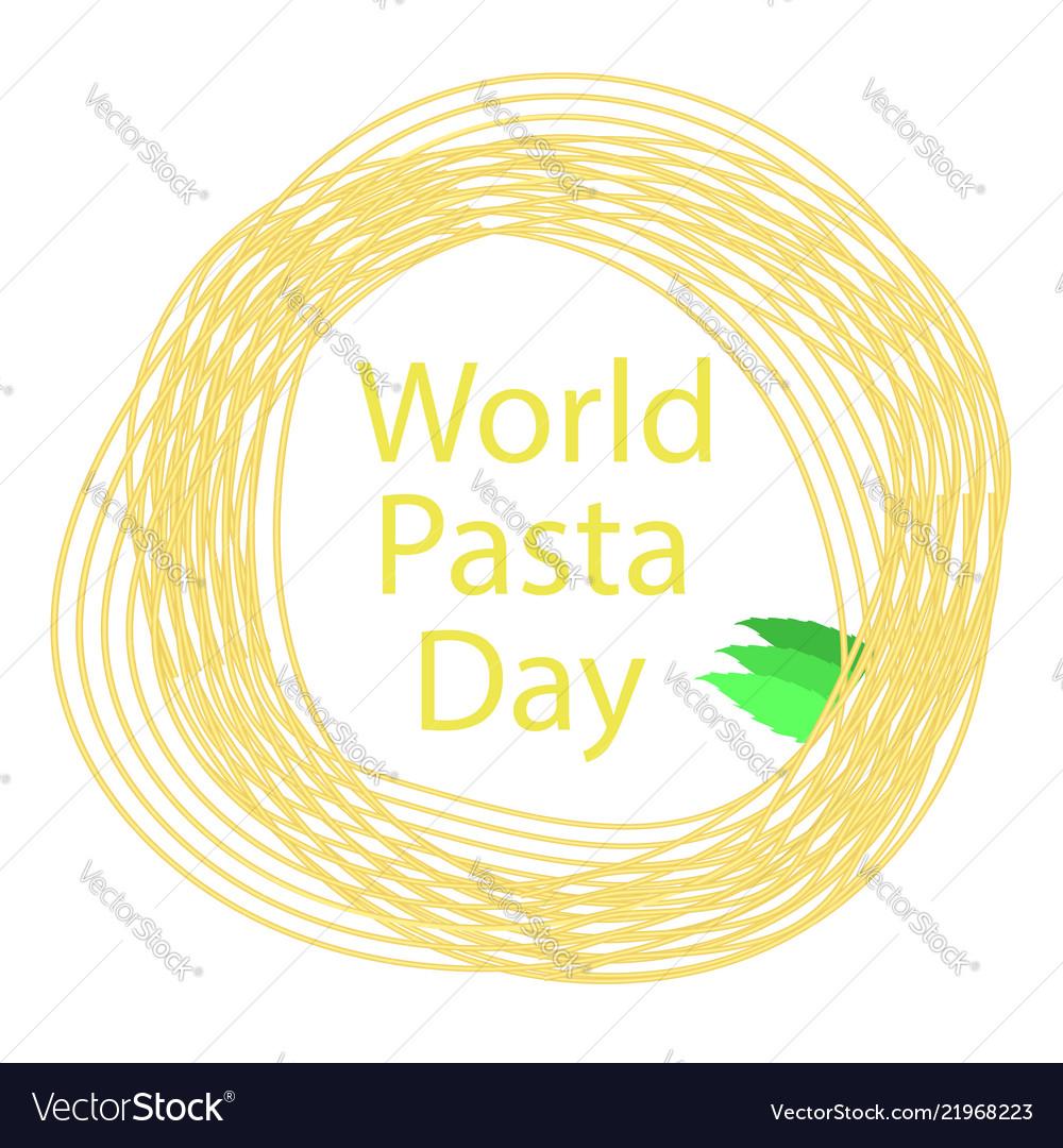 Noodles circle frame italian spaghetti boiled