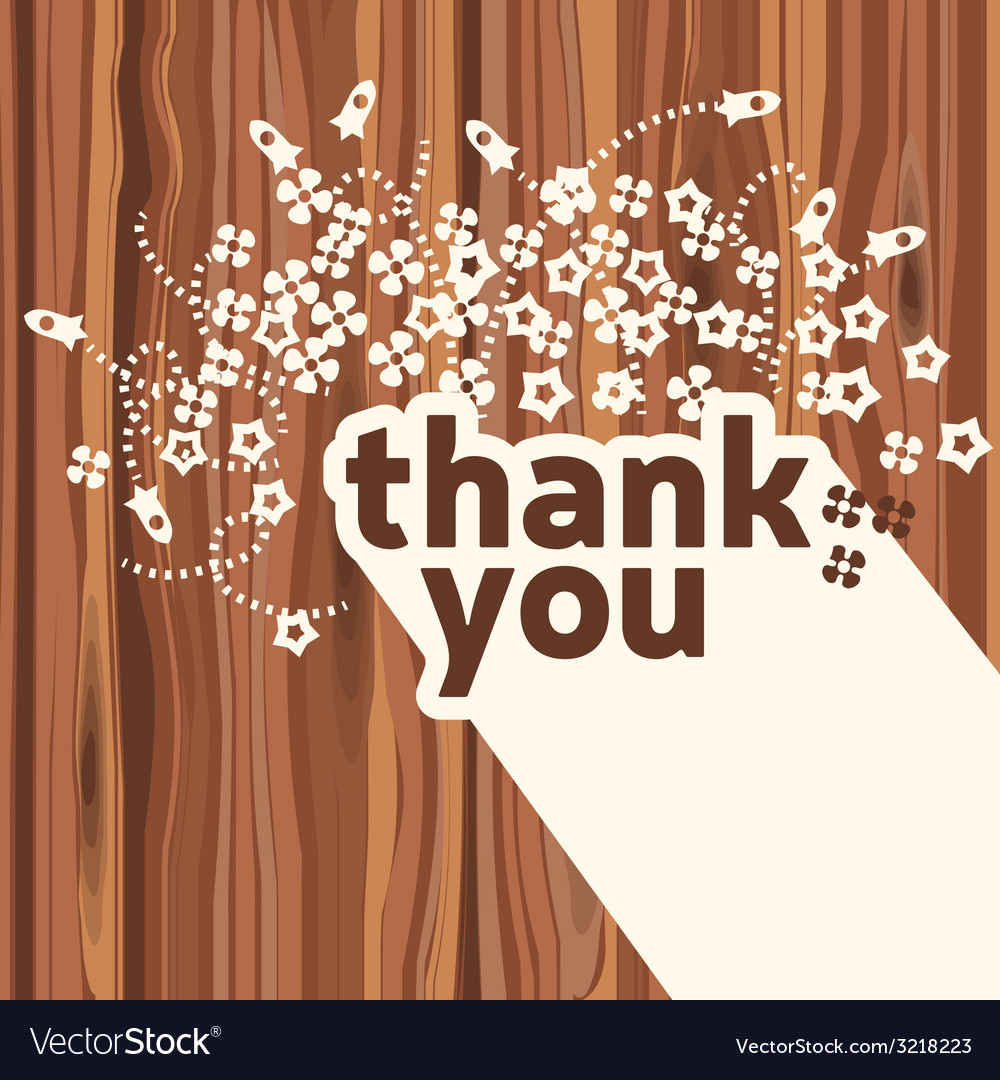 Thank you card design template royalty free vector image thank you card design template vector image spiritdancerdesigns Choice Image
