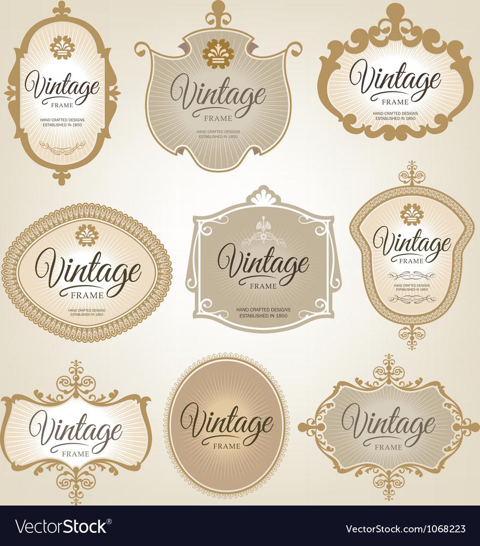 Vintage retro labels
