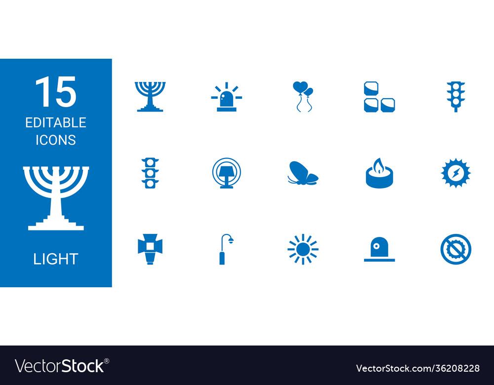 15 light icons