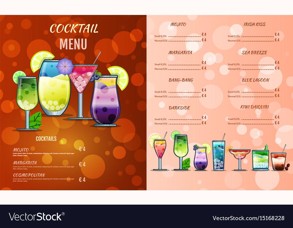 cocktail list template