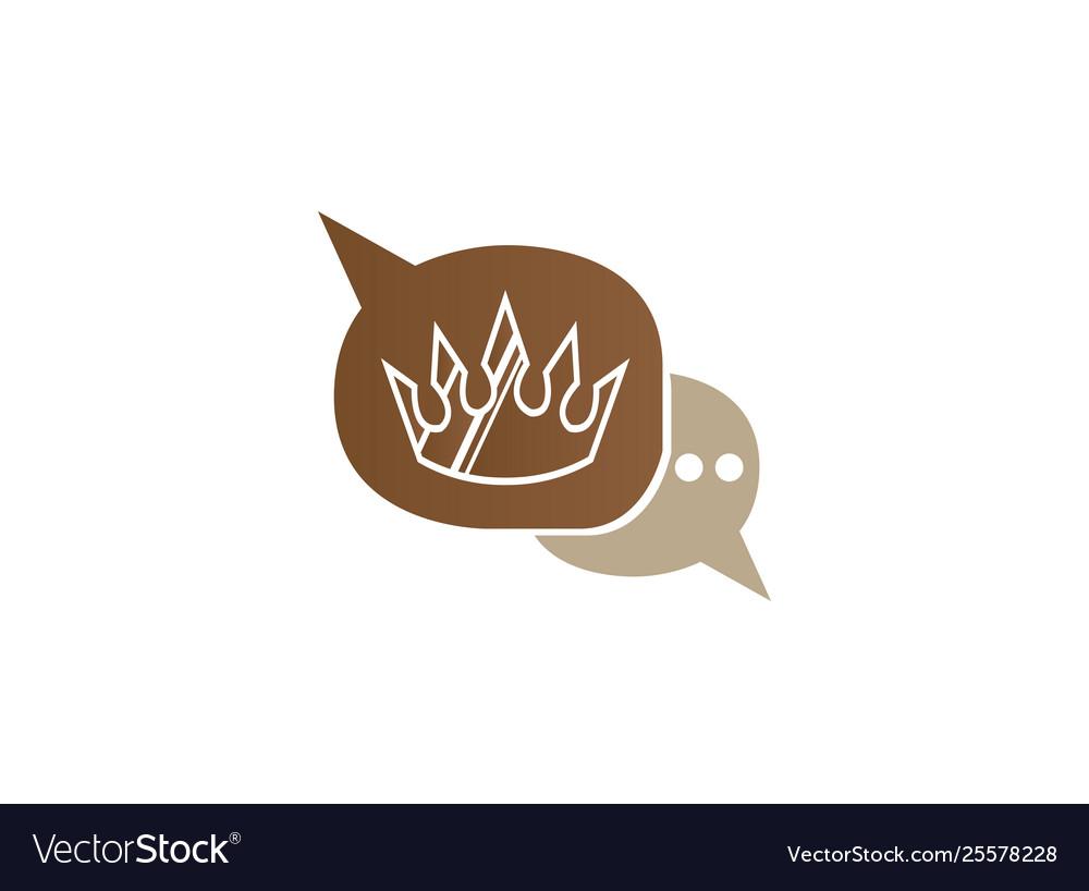 Golden crown for logo design luxury symbol in