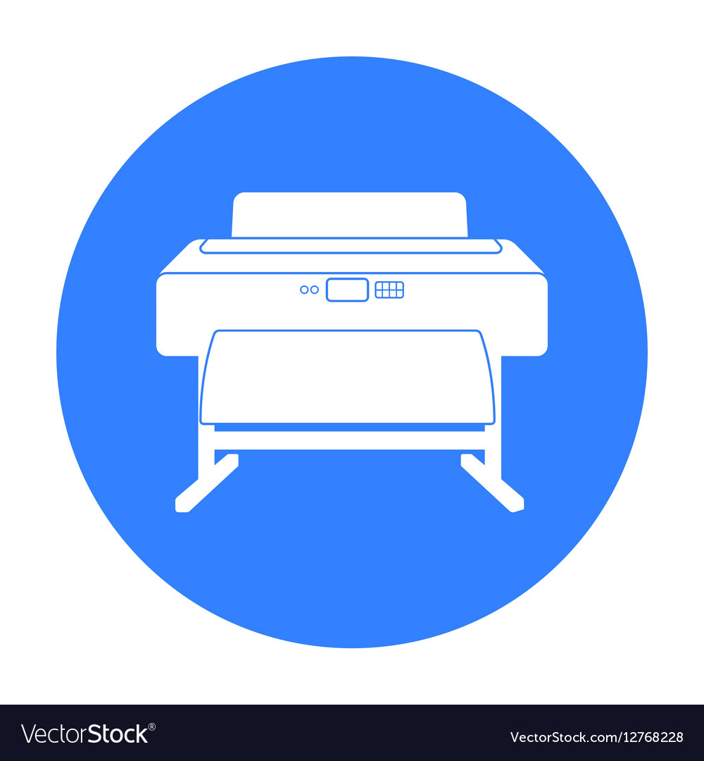 large format printer icon in black style isolated vector image vectorstock