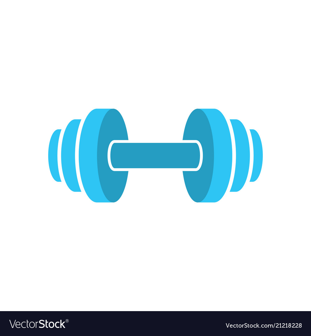 Muscle lifting icon - fitness barbell - gym icon
