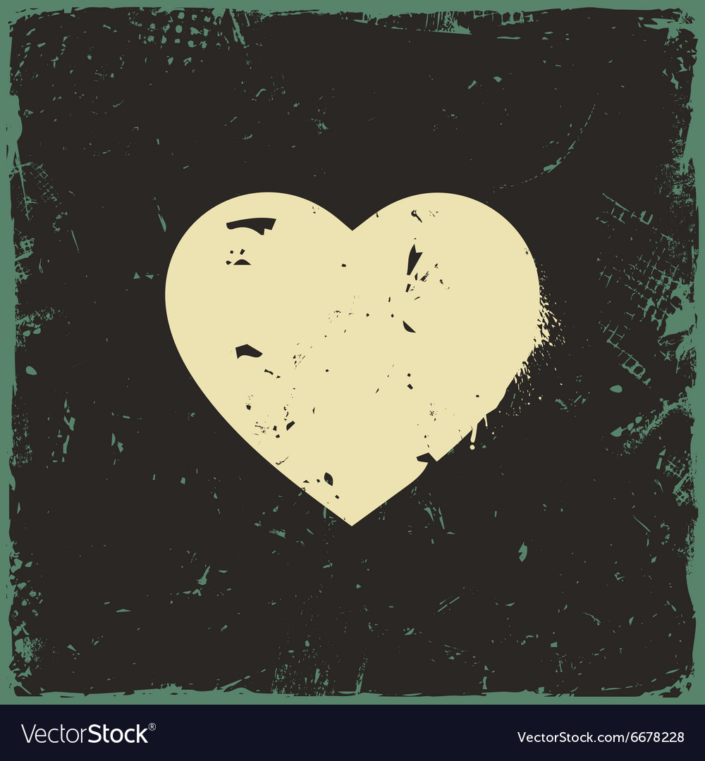 Rustic Love Heart Vector Image