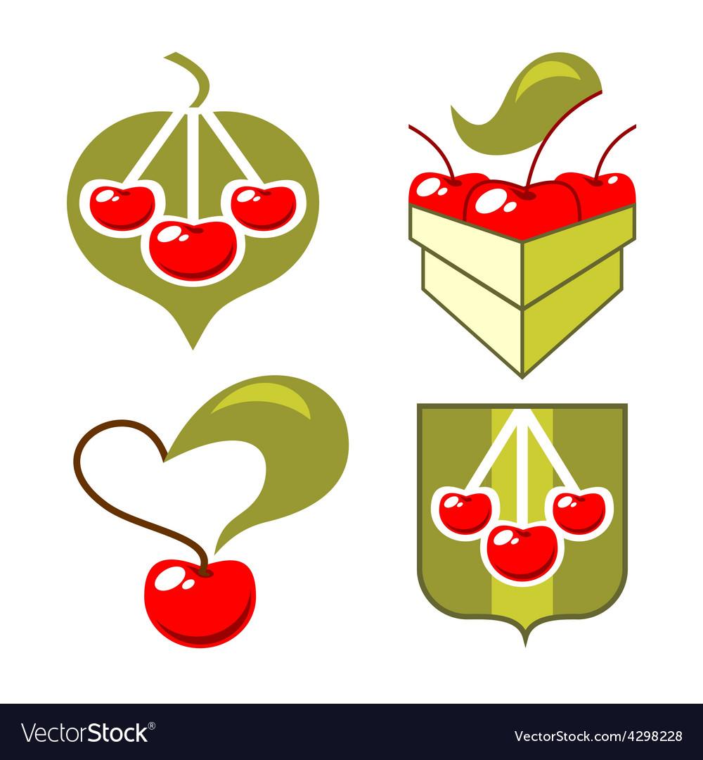 symbols cherry royalty free vector image vectorstock