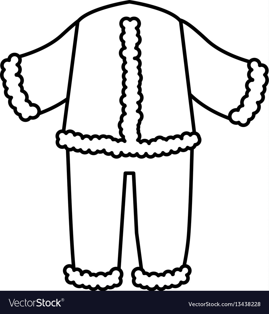 Typical winter costume icon
