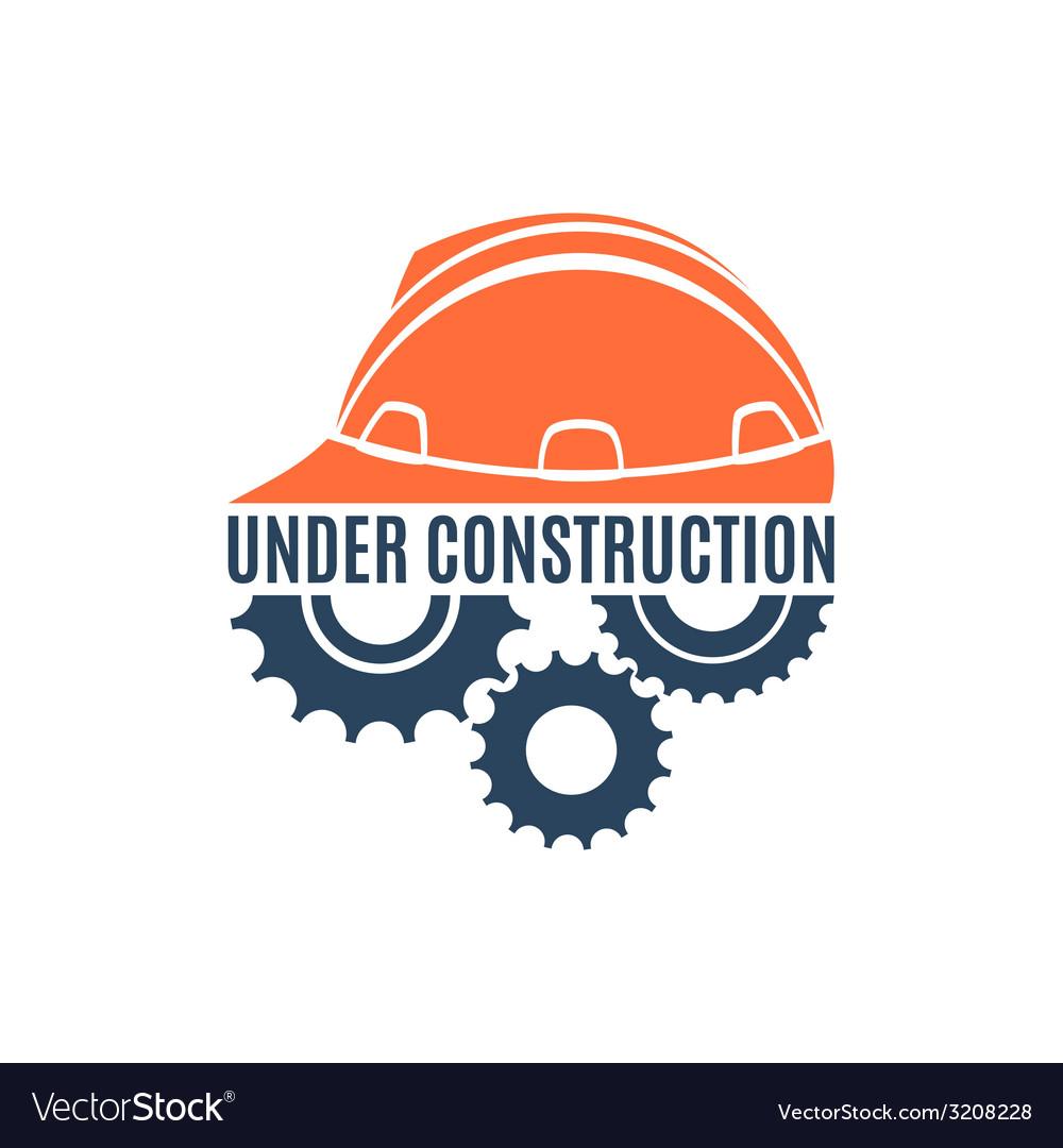 Under construction conceptual logo
