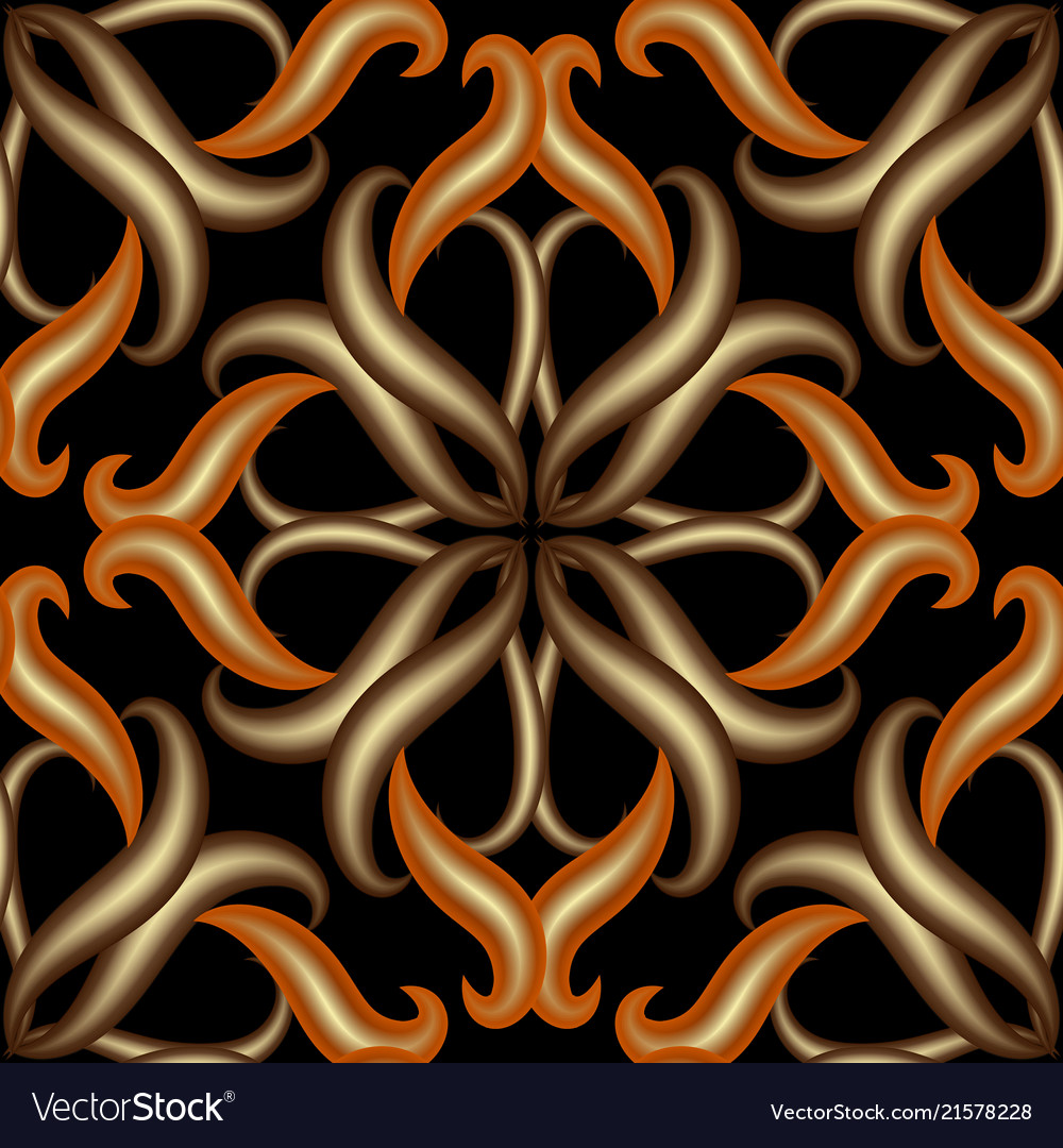 Vintage 3d damask floral background abstract