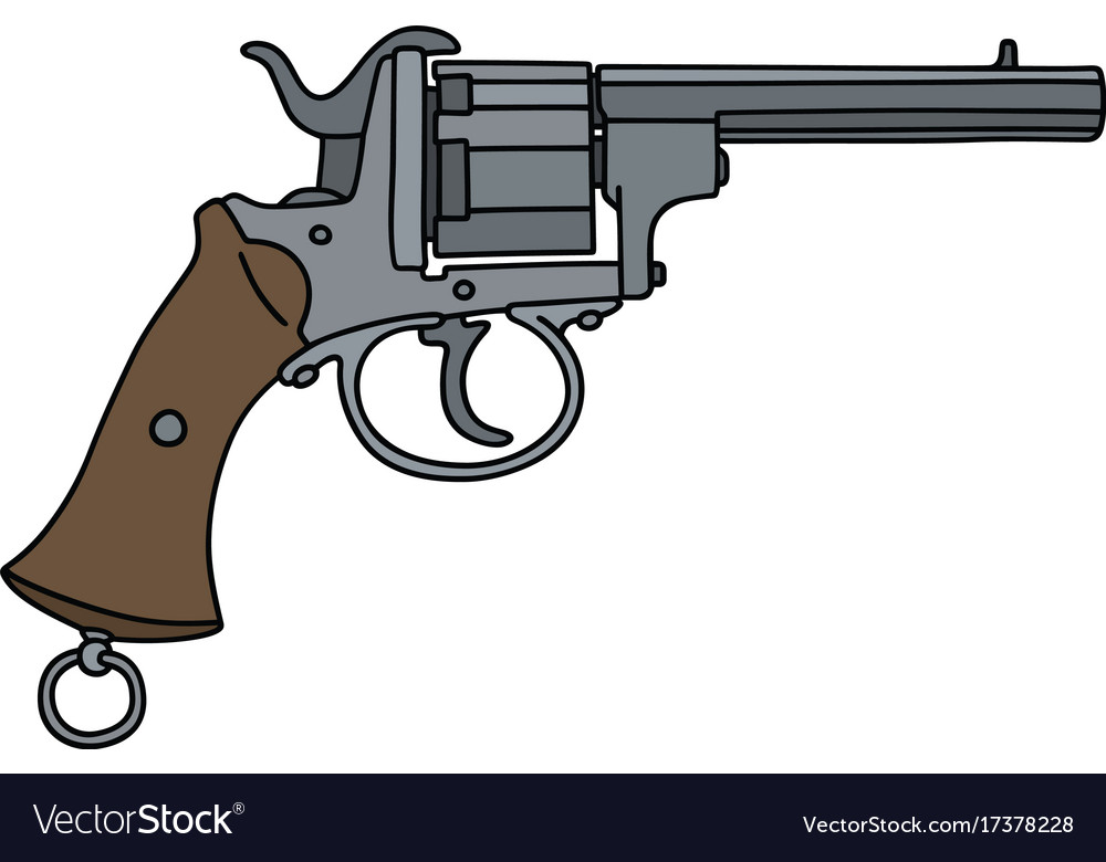 vintage six bullets gun royalty free vector image rh vectorstock com gun vector image gun vector test