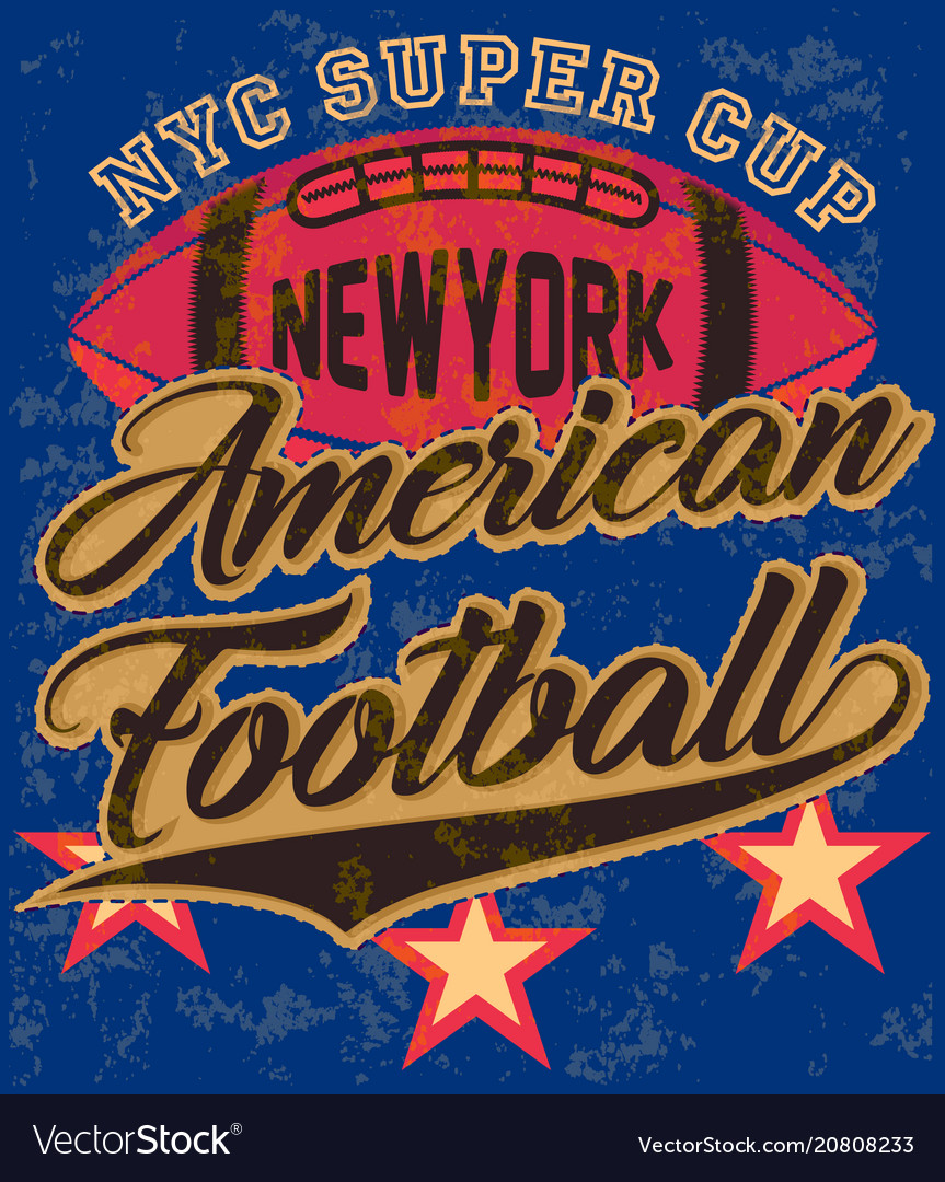 American football graphic tee poster
