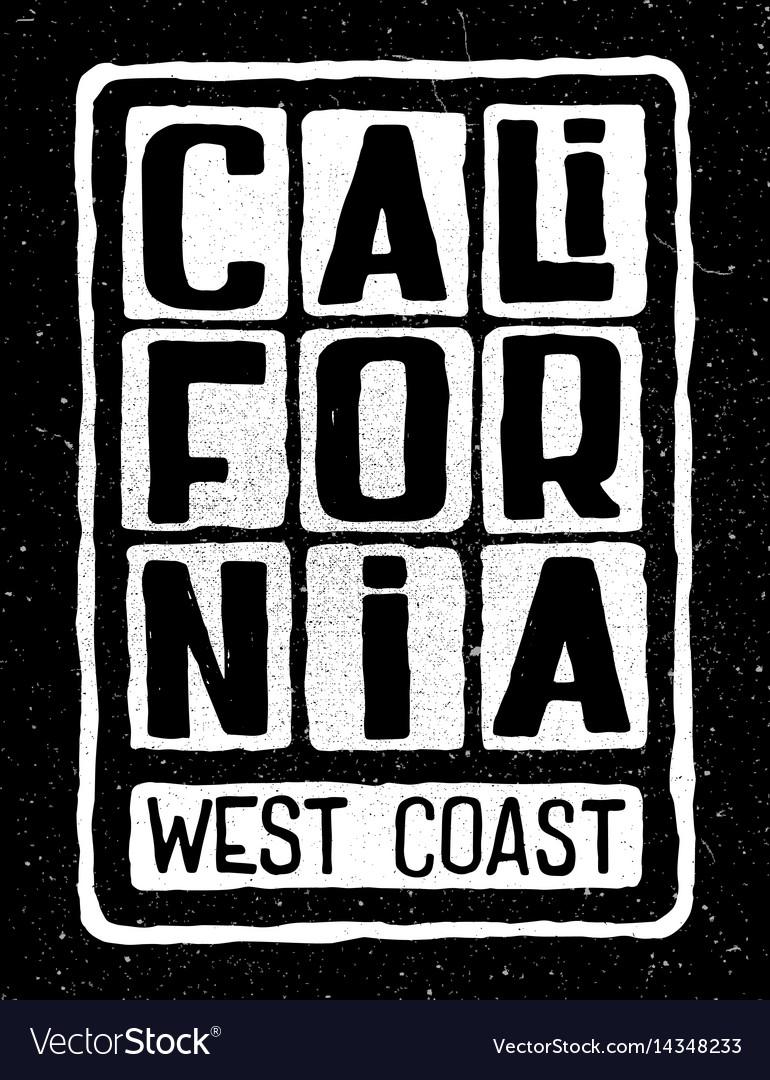 California west coast poster