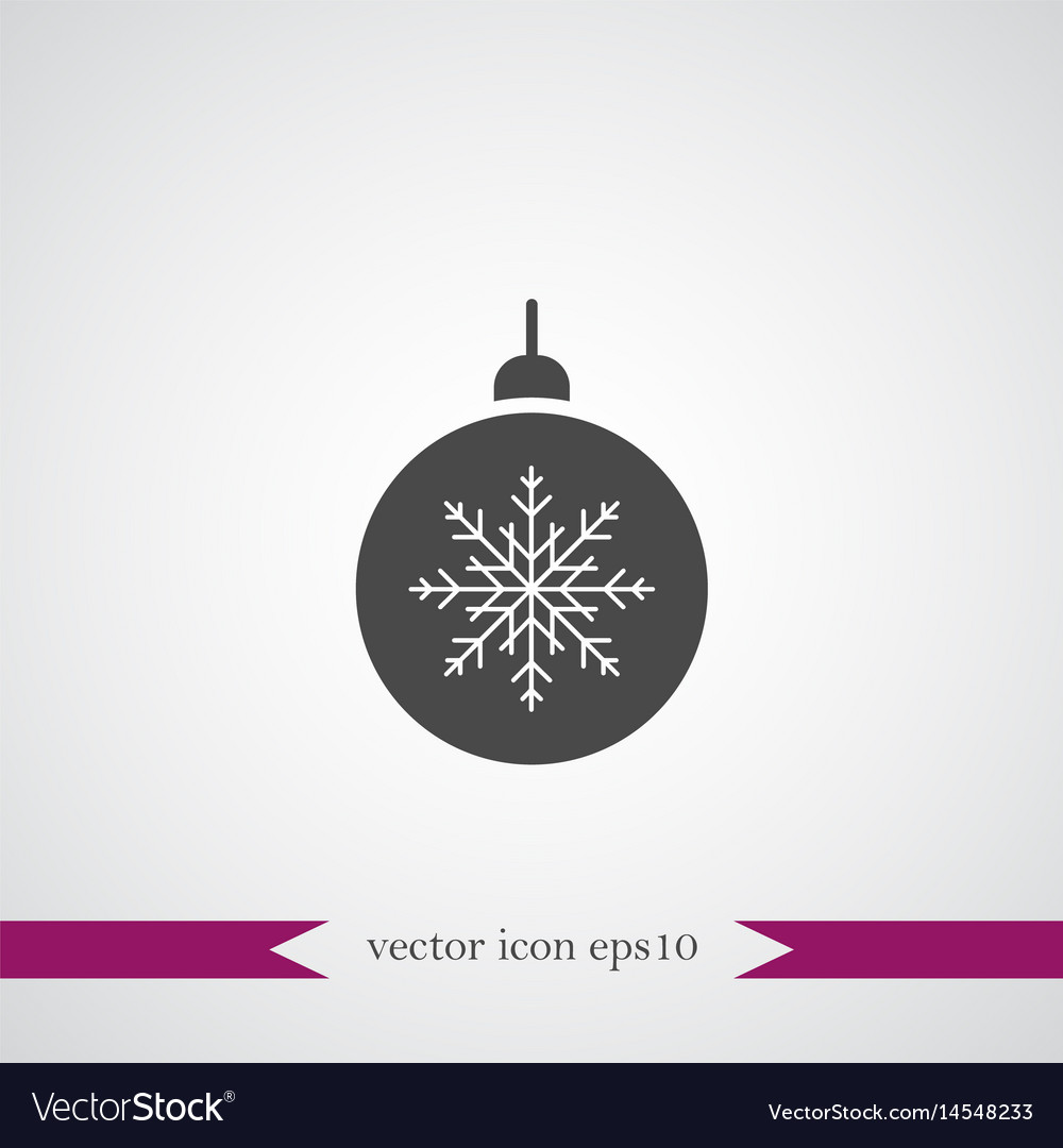Christmas tree toy icon simple