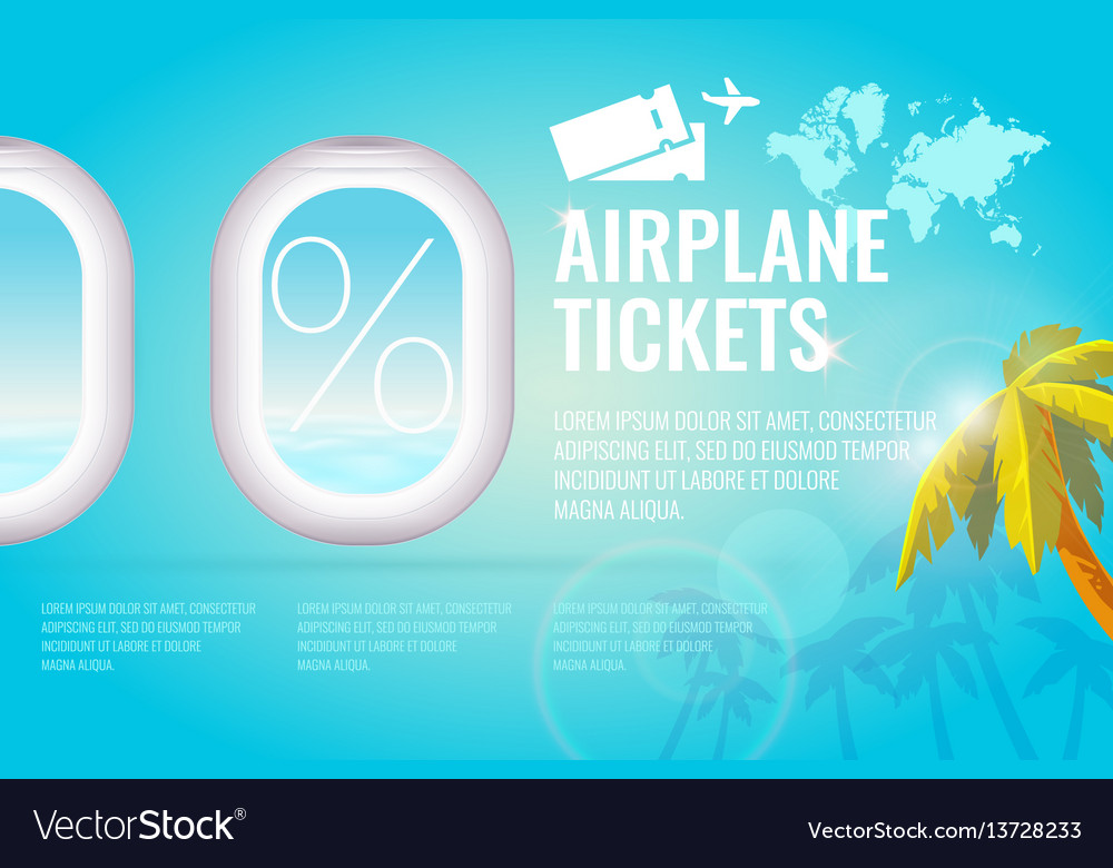 Conceptual poster sales and discounts of airaplane