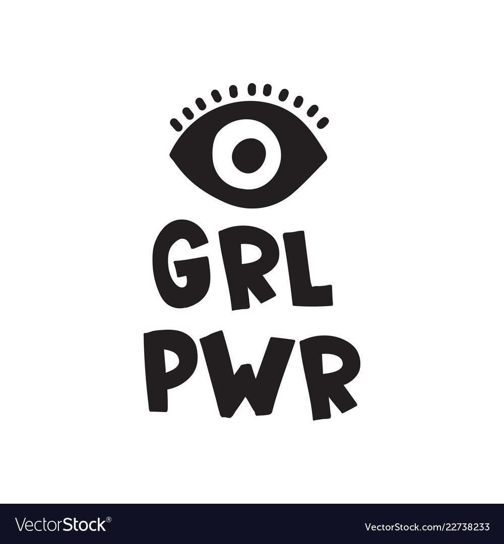 Image of: Short Inspirational Quotes Vectorstock Grl Pwr Short Quote Girl Power Cute Hand Drawing Vector Image