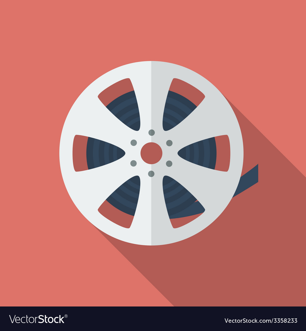 Icon of film reel flat style royalty free vector image icon of film reel flat style vector image altavistaventures Choice Image