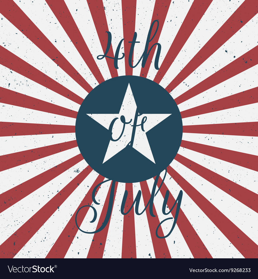 Independence Day 4th of July greeting Label