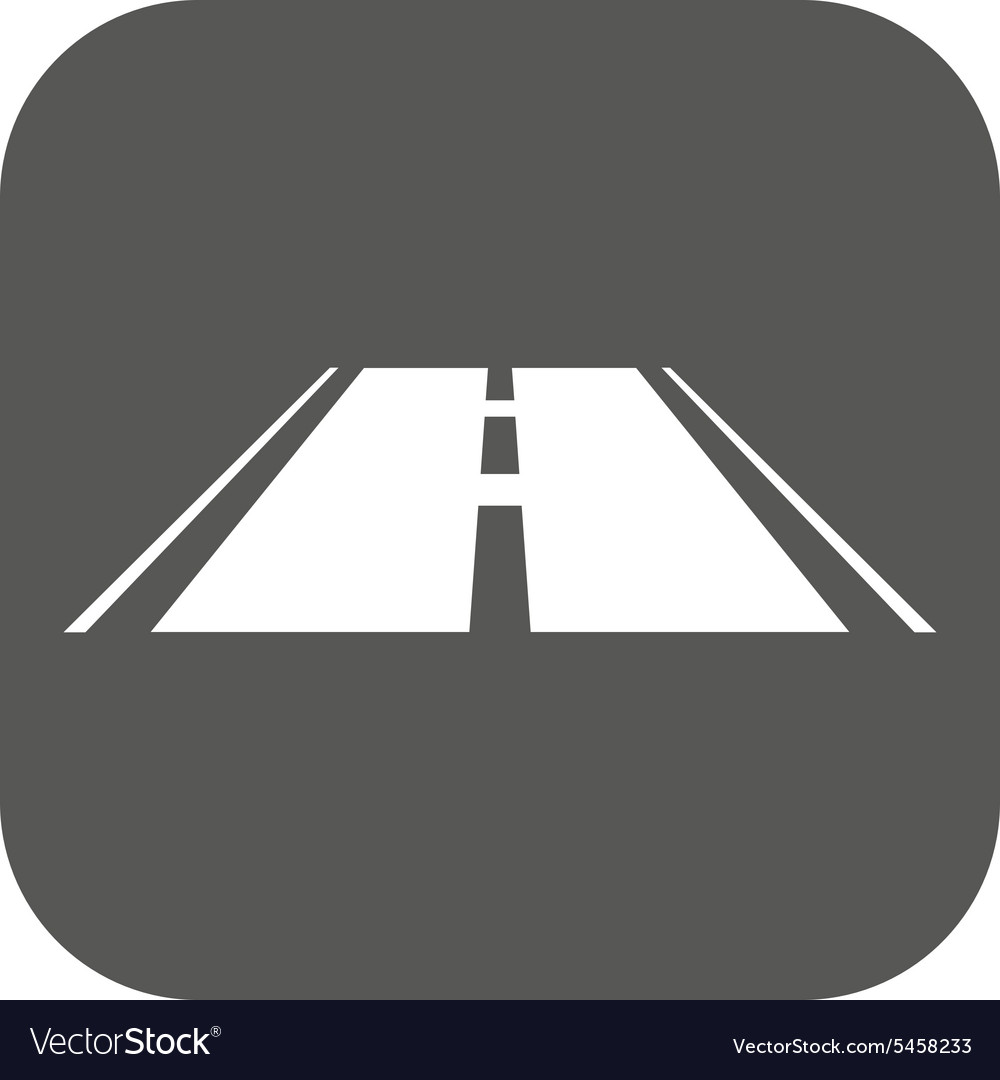 The road icon Highway symbol Flat