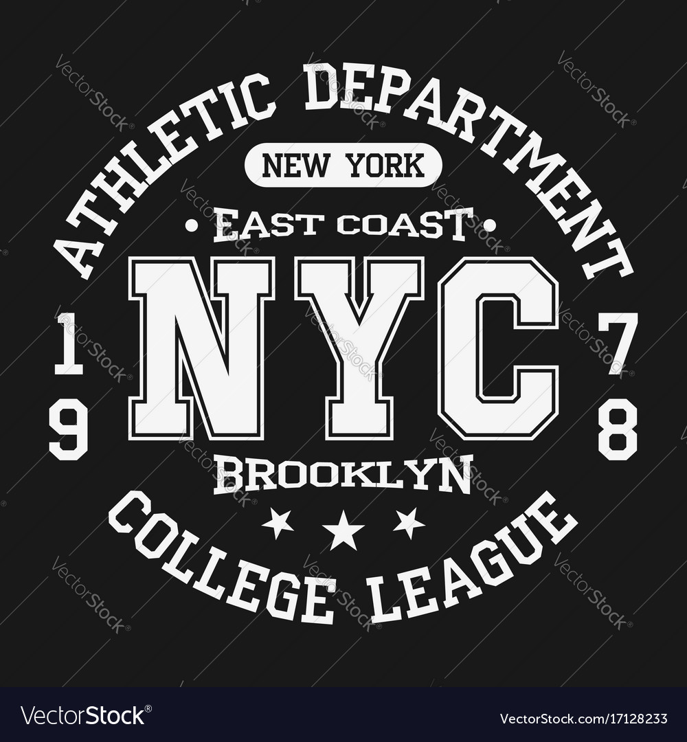 Vintage badge athletic sport typography for t