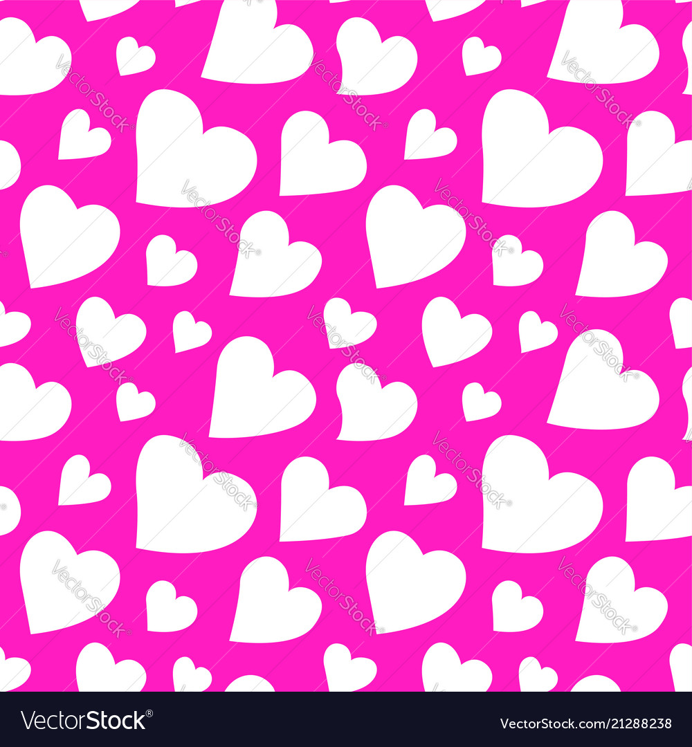 Beautiful pink pattern with hearts