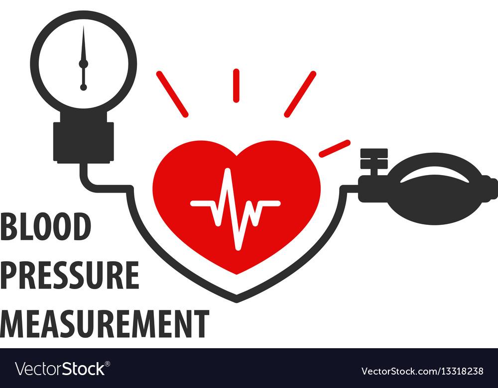 Blood pressure measurement icon - heart care