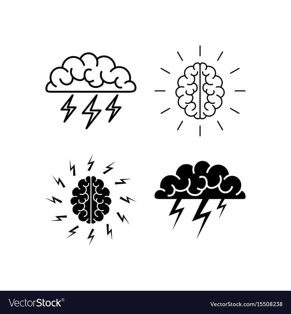 Brain brainstorming icon