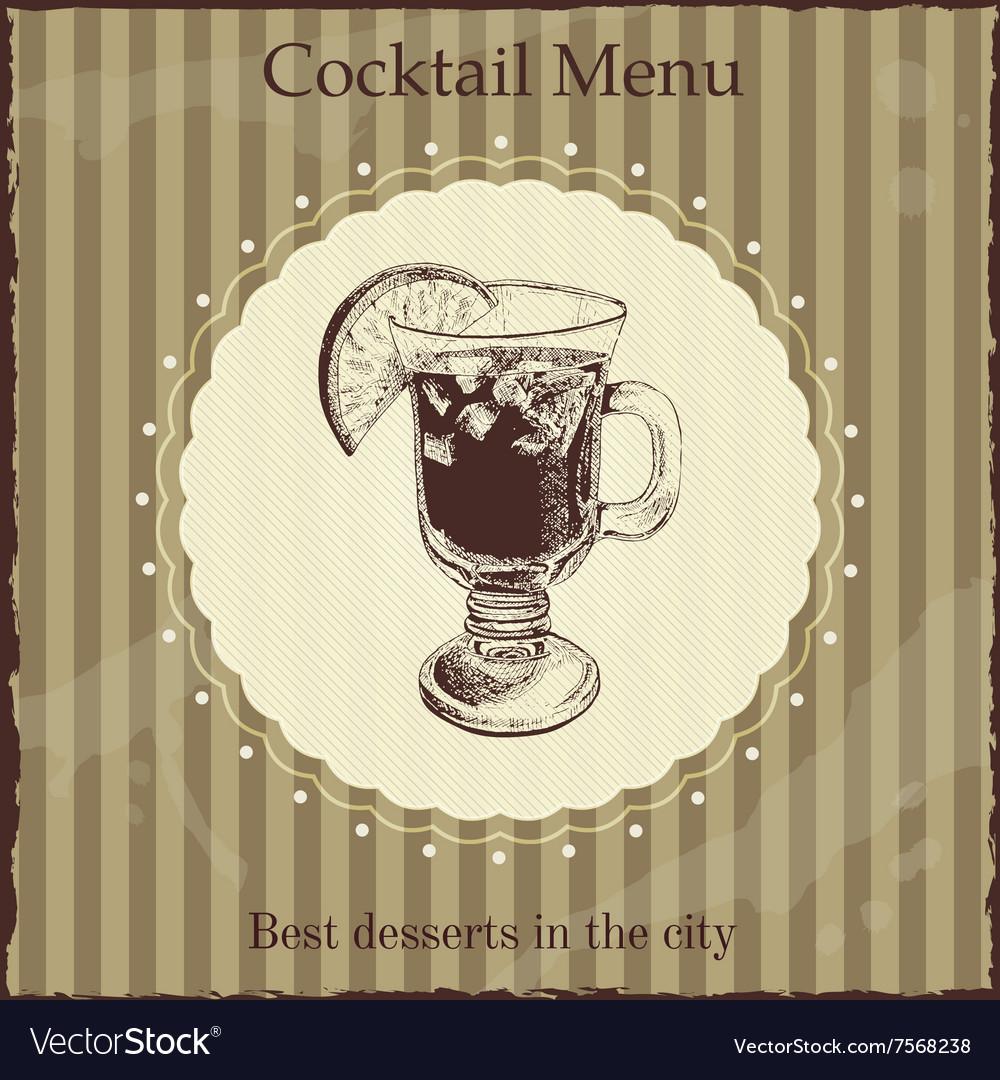 Cocktail menu cover template