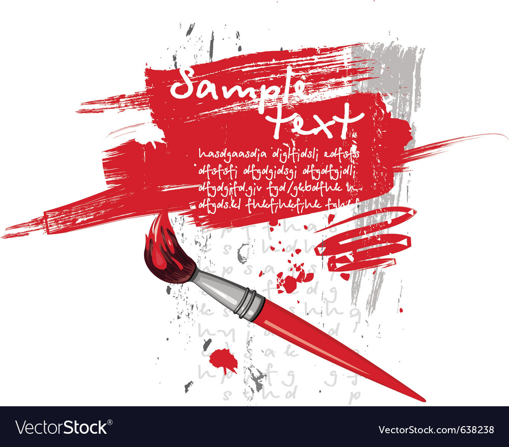 Red brush vector image