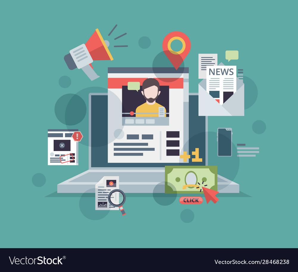 Web blogging monitor with content marketing