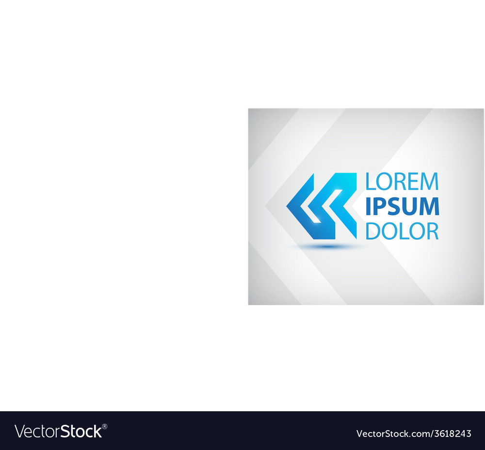 Abstract blue arrow icon logo isolated vector image