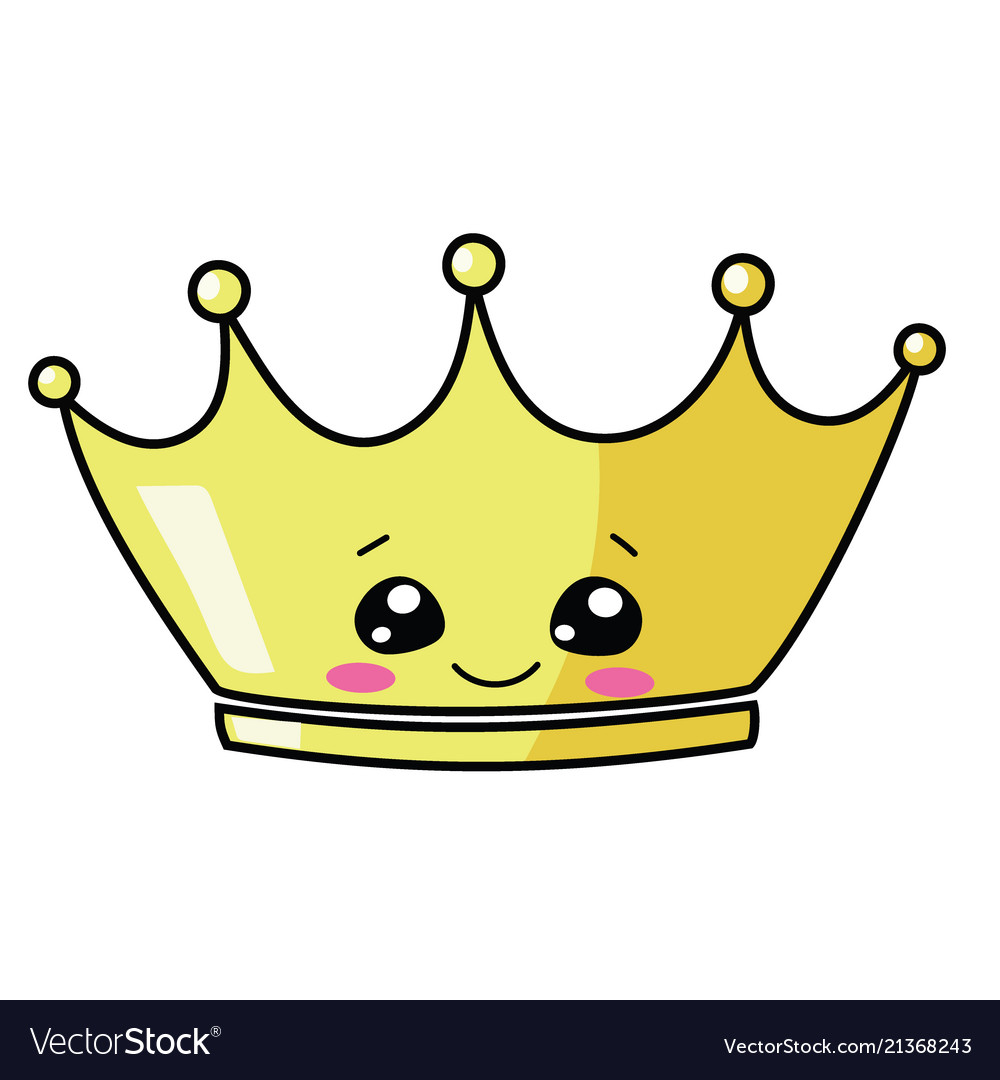 Cartoon gold crown for