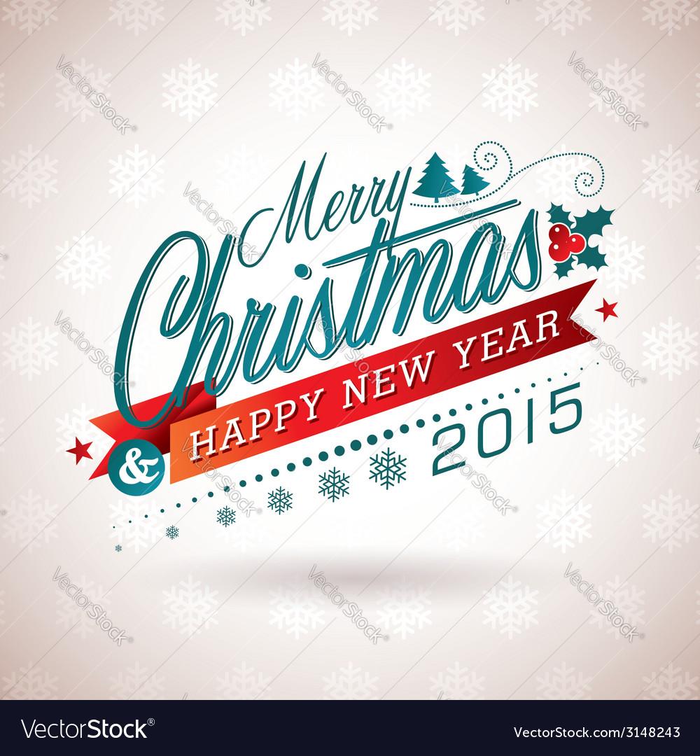 Christmas with typographic design