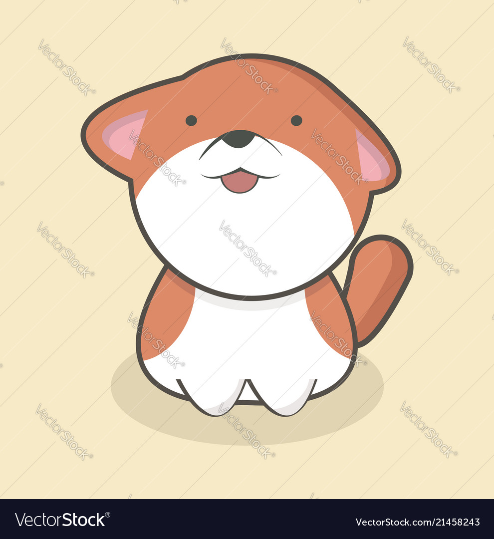 Cute dog flat