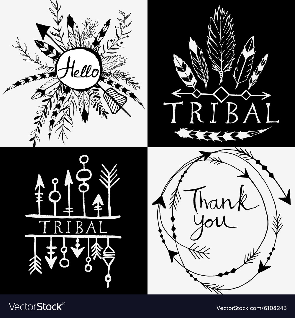Design elements in tribal style