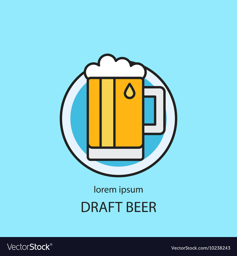 Draft beer logo template