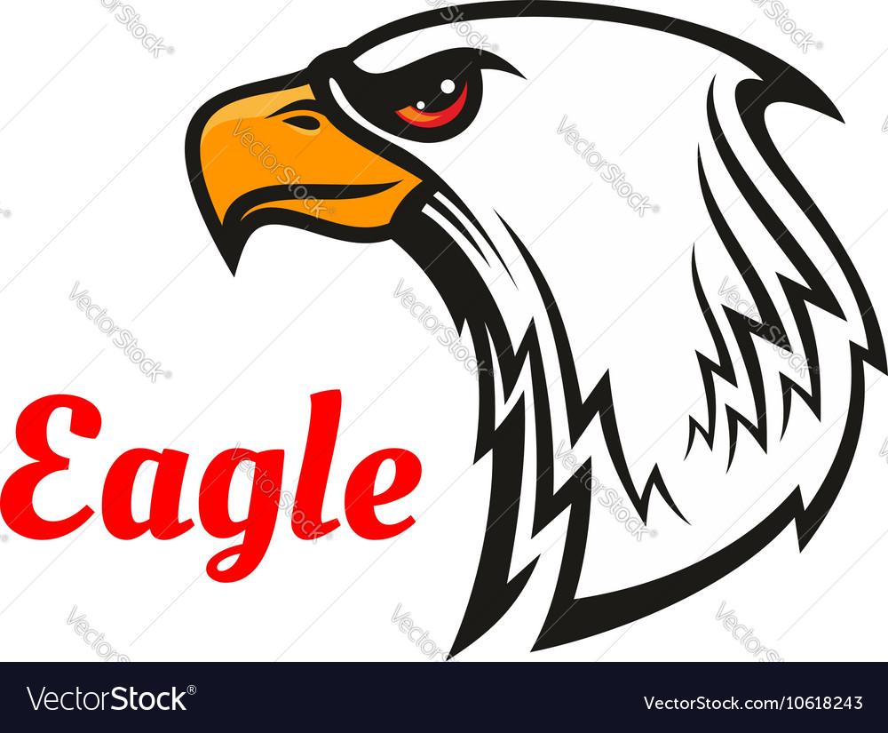 Eagle head mascot for sporting design vector image