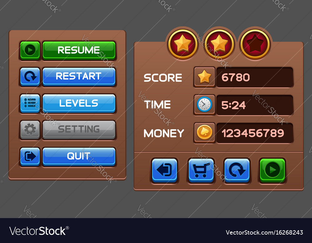 Game buttons gui pack