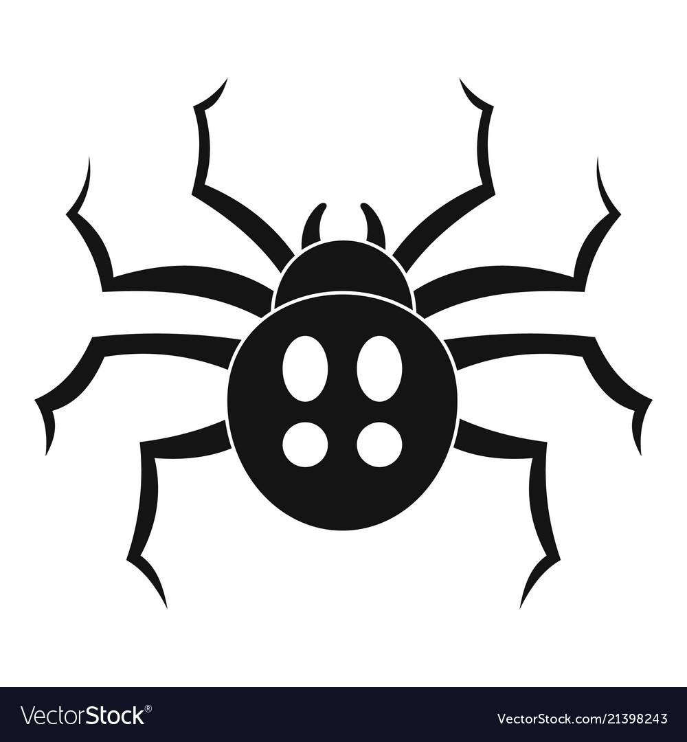 Garden spider icon simple style