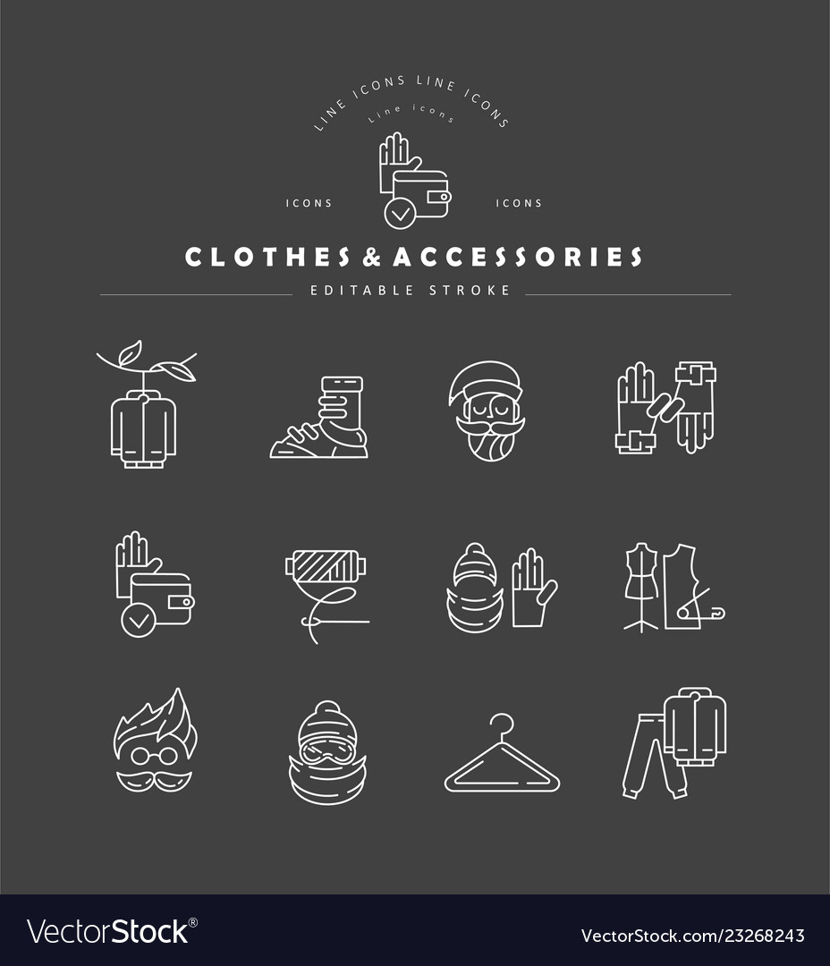 Icon and logo for clothes and accessories