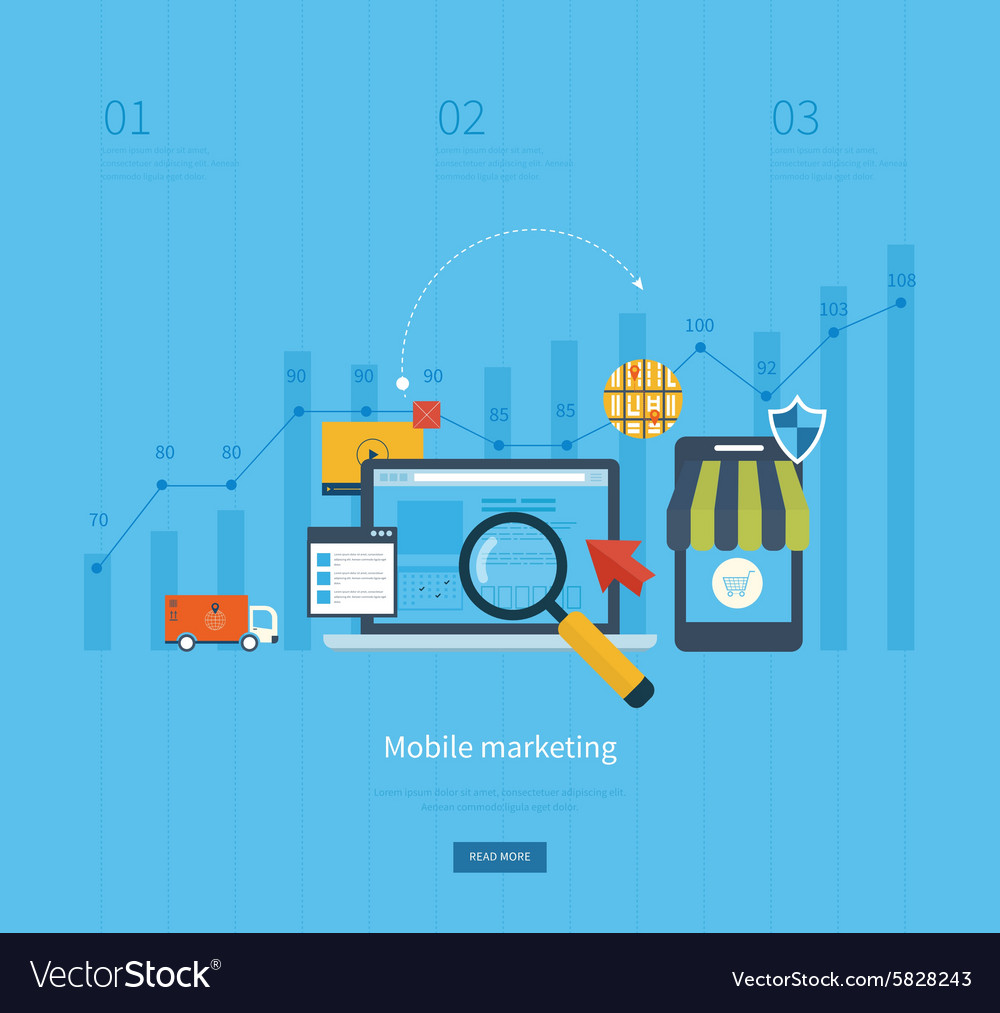 Icons for mobile marketing online shopping